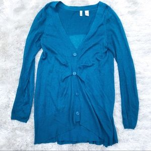 Anthropologie Moth Cardigan with Ruffle Back